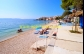 Chorvatsko Igrane apartman PLAŽA - pláž u domu