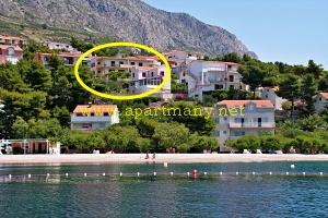 Chorvatsko Staniči apartmány SLOBODAN nad pláží Velika Luka